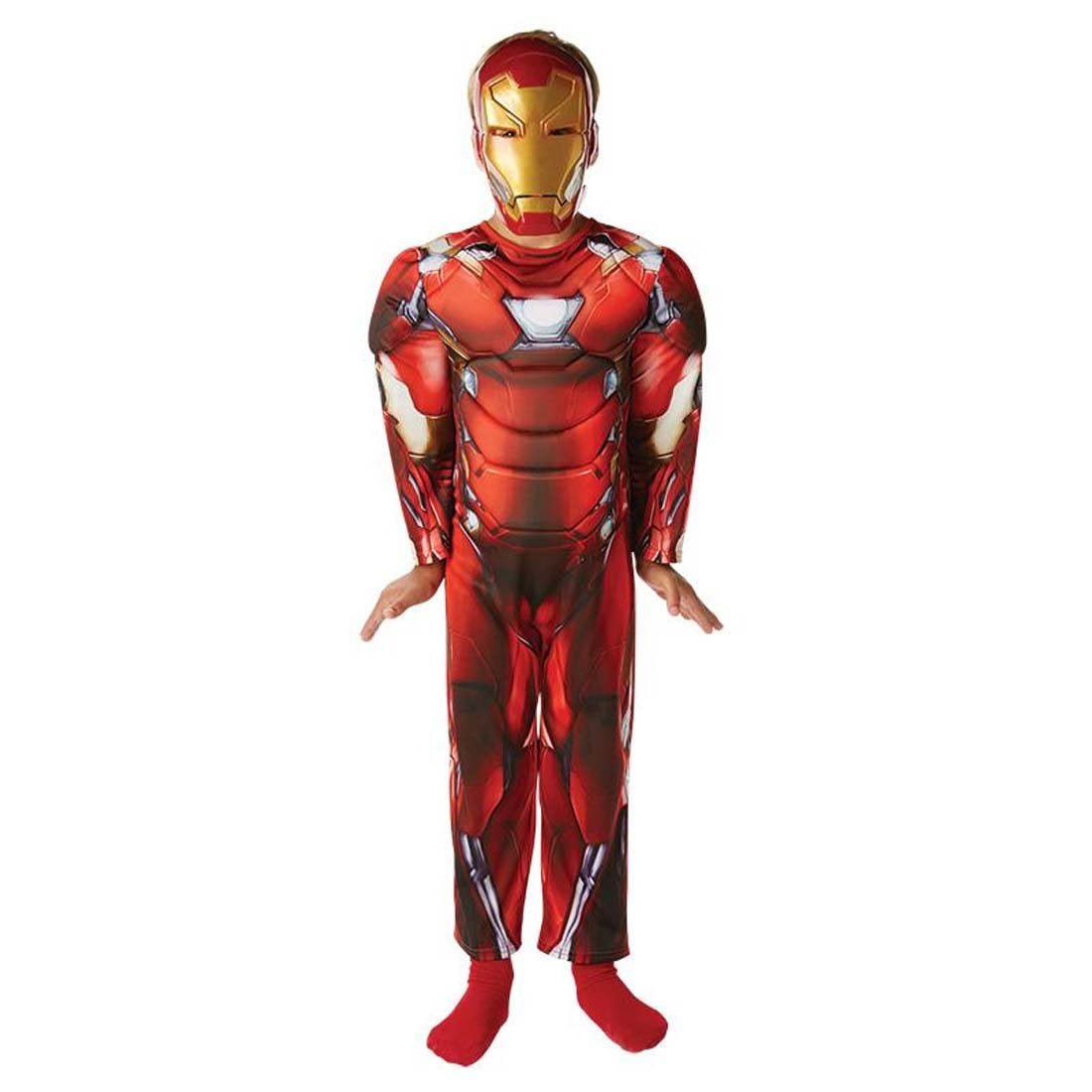 Amakando Disfraz Iron Man niños Traje Ironman Deluxe ...