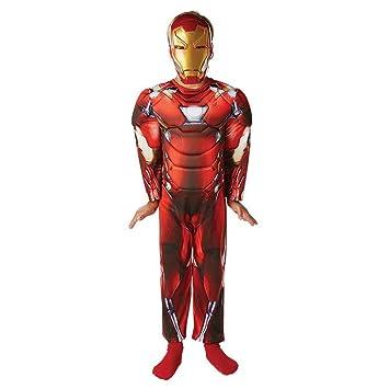 Amakando Disfraz Iron Man niños Traje Ironman Deluxe Infantil M ...