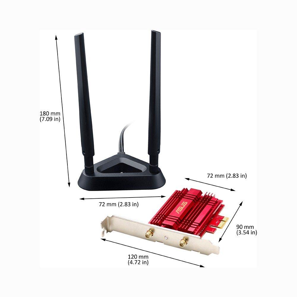 Asus Wi Fi Pci Express Adapter Pce Ac56 Computers Ha2403gtnf 3 Watt 24 Ghz Outdoor 80211b G N Wifi Amplifier Accessories