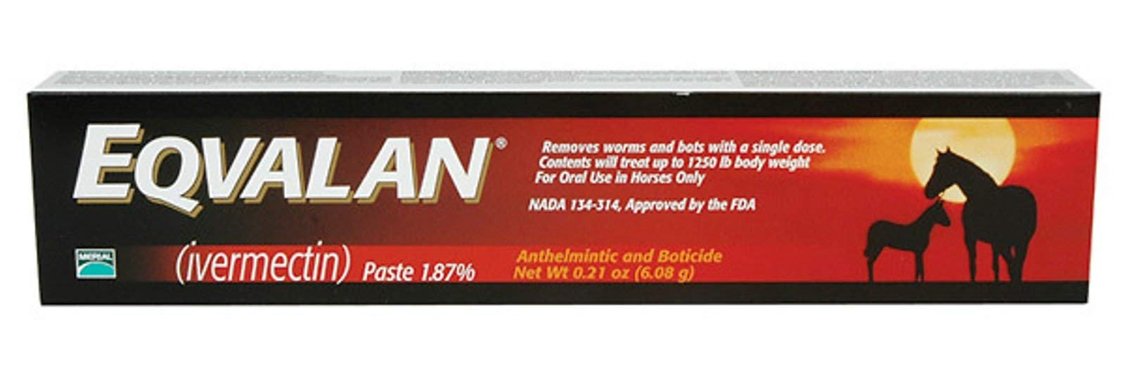Eqvalan [Ivermectin 1.87%] De-Wormer For Horses, 0.21 oz. [6.08g] Paste by Unknown by Unknown