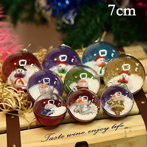1 UNIDS Bolas Navideñas Adornos de Navidad Decoraciones para Árboles de Navidad Ornamento Colgante Izquierdo y Derecho...