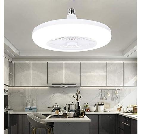 Invisible Ventilador De Techo 80W LED Silencioso Luz De Techo ...