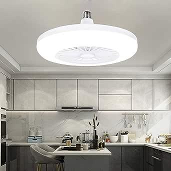 Luz de Techo LED para Ventilador, Dormitorio Moderno y Creativo de ...