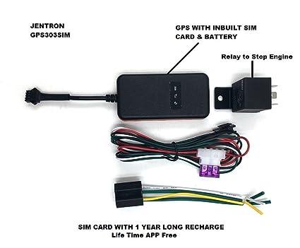 jentron GPS Tracker GPS/GSM/gprs Live with Free SIM Card Mobile app