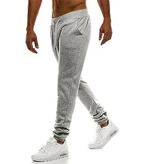 d77364bfd806e MonsieurMode - Pantalon de Jogging Homme Jogging 33 Gris Clair - Gris