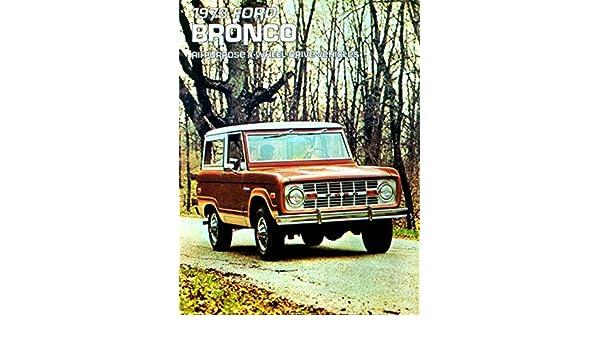 1973 FORD BRONCO DEALER SALES BROCHURE
