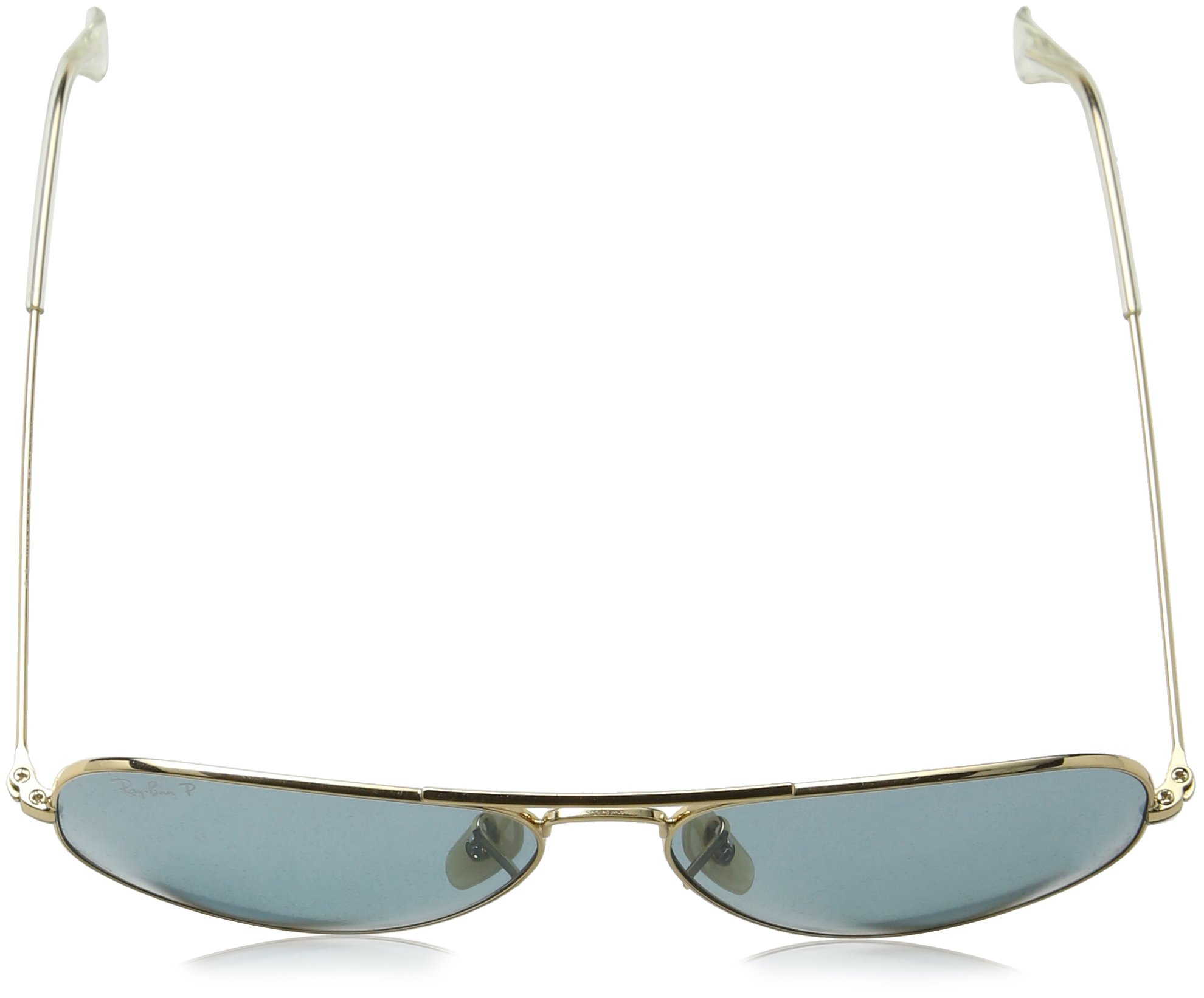 Ray-Ban 3025 Aviator Large Metal Non-Mirrored Polarized Sunglasses, Gold/Green, 55mm by Ray-Ban (Image #5)