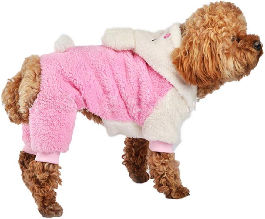 HOODDEAL Adorable Bunny Halloween Dog Costumes Dog Hoodie Jumpsuit Dog Coat Pet Dog Clothes