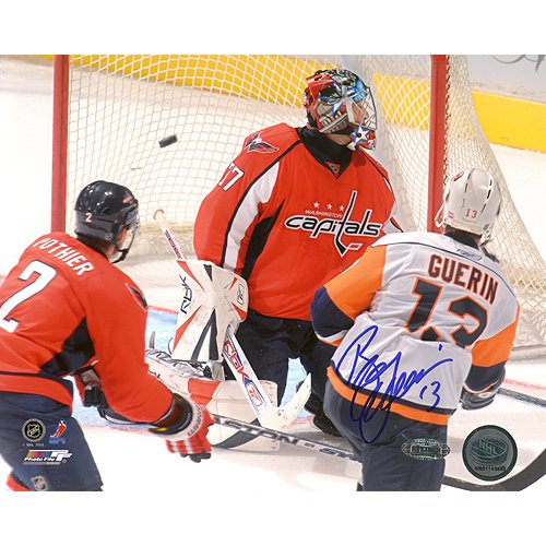 (NHL Bill Guerin Goal Vs Capitals Autographed 8-by-10-Inch Photograph)