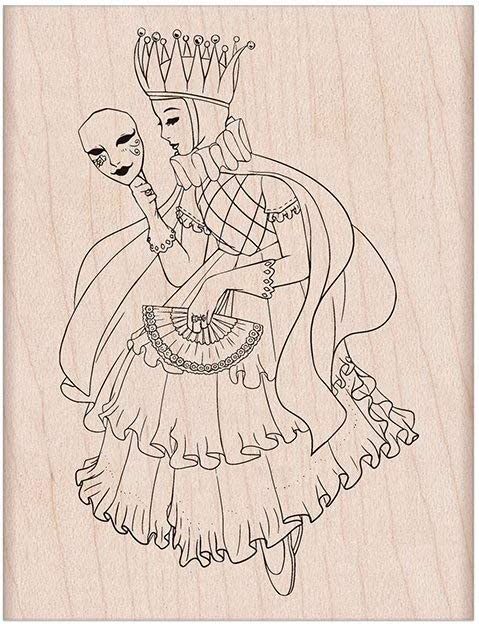 Fairy Queen Hero Arts H6330 Woodblock Stamps