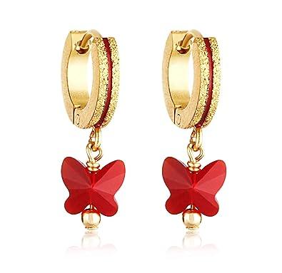 Amazoncom Surgical Steel Baby Girl Earrings 14k Gold Coated 6mm