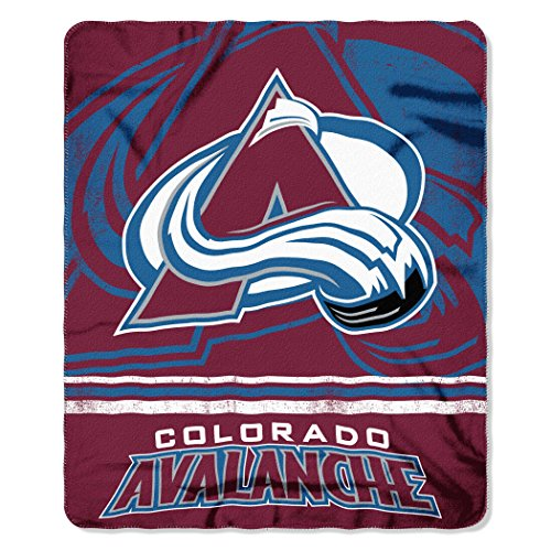 The Northwest Company NHL Colorado Avalanche 50 x 60 inch Fleece Throw Blanket - Fleece Colorado Avalanche Blanket