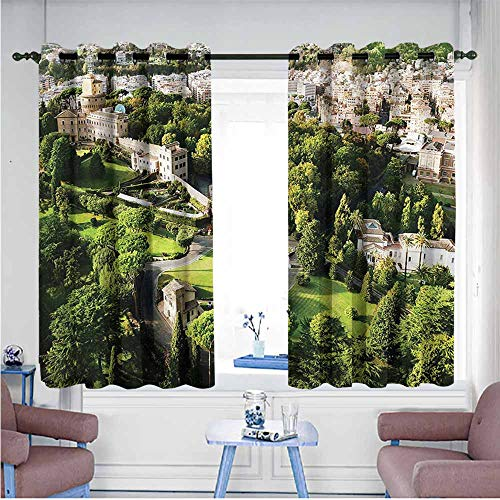 Mdxizc Bedroom Balcony Living Room Curtain Italian Famous Vatican Gardens Breathability W72 xL72 Suitable for Bedroom,Living,Room,Study, - Contemporary Sconce Italian