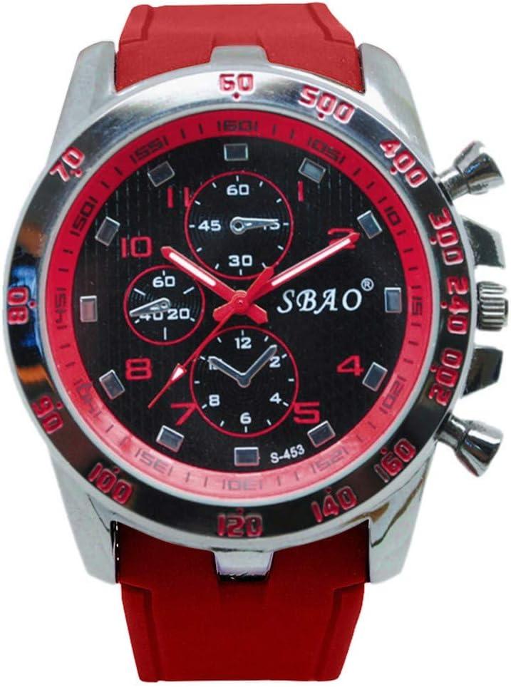 WUAI Inexpensive Watch, Men's Outdoor Waterproof Military Big Dial Sport Analog Quartz Watch Father's Day Gift