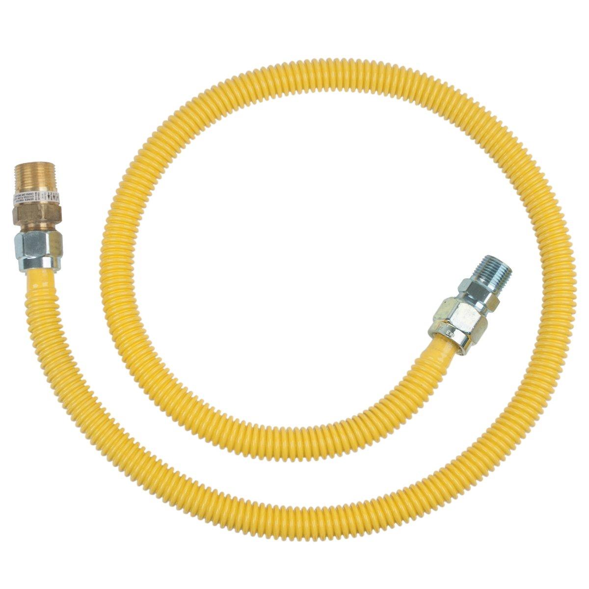 BrassCraft CSSC14R-48 P Safety PLUS Gas Appliance 5/8'' OD Connector with 3/4'' MIP EFV x 1/2'' MIP x 48''