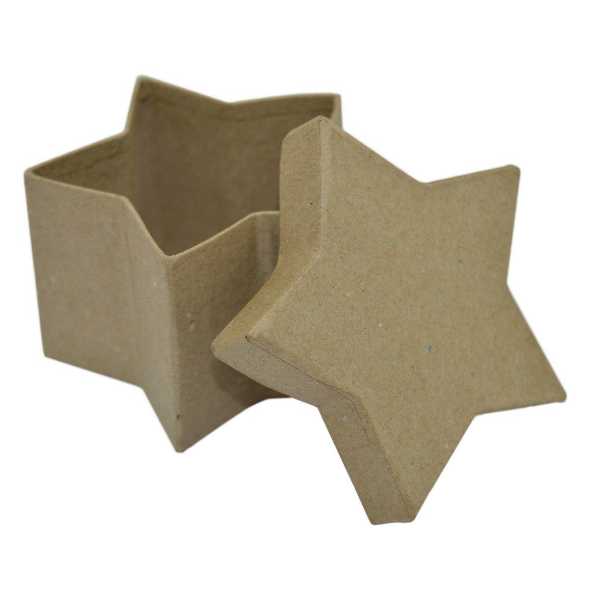 Estrella caja - regalo-cartón estrella para Manualidades pintar decorar, diámetro 8 cm H5cm: Amazon.es: Hogar