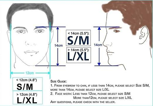 máscara del tubo respirador de cara completa de respiración para ...