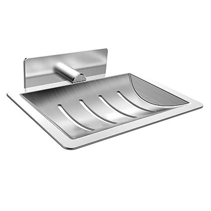 Jabonera de acero inoxidable, anticorrosión, ideal para baño ...