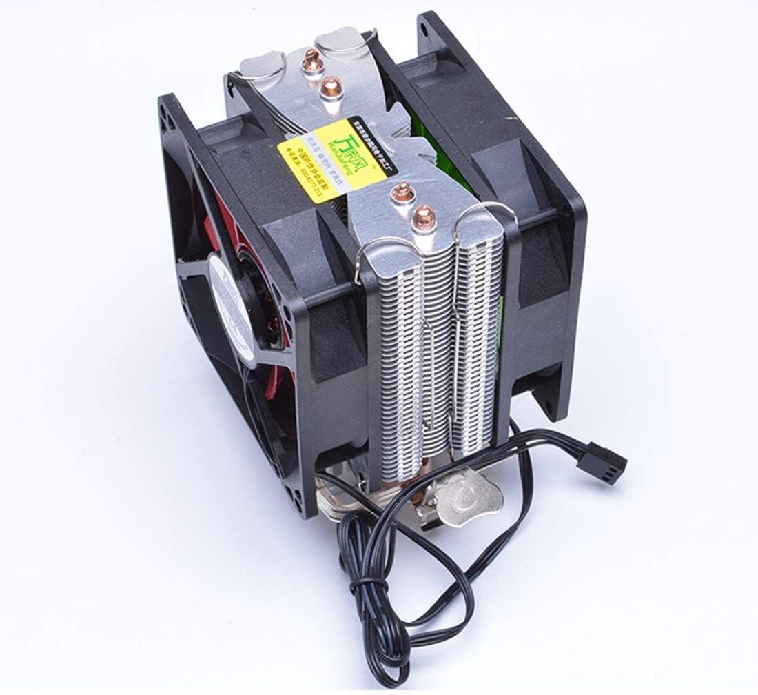Hexiaoyi CPU Radiator Double Fan Pure Aluminum Double Heat Pipe CPU Cooling Fan