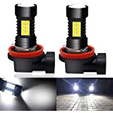Viesyled H11 H8 H9 LED Fog Lights Bulbs 3030SMD 1800 Lumens 6000K DRL Daytime Running Light Bulb Replacement Super Bright White Pack of 2, 2 Year Warranty