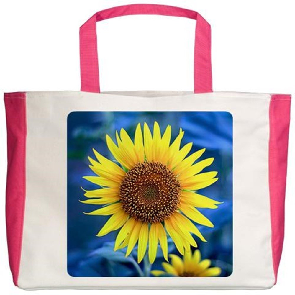 Royal Lion Beach Tote 2-Sided Young Sunflower