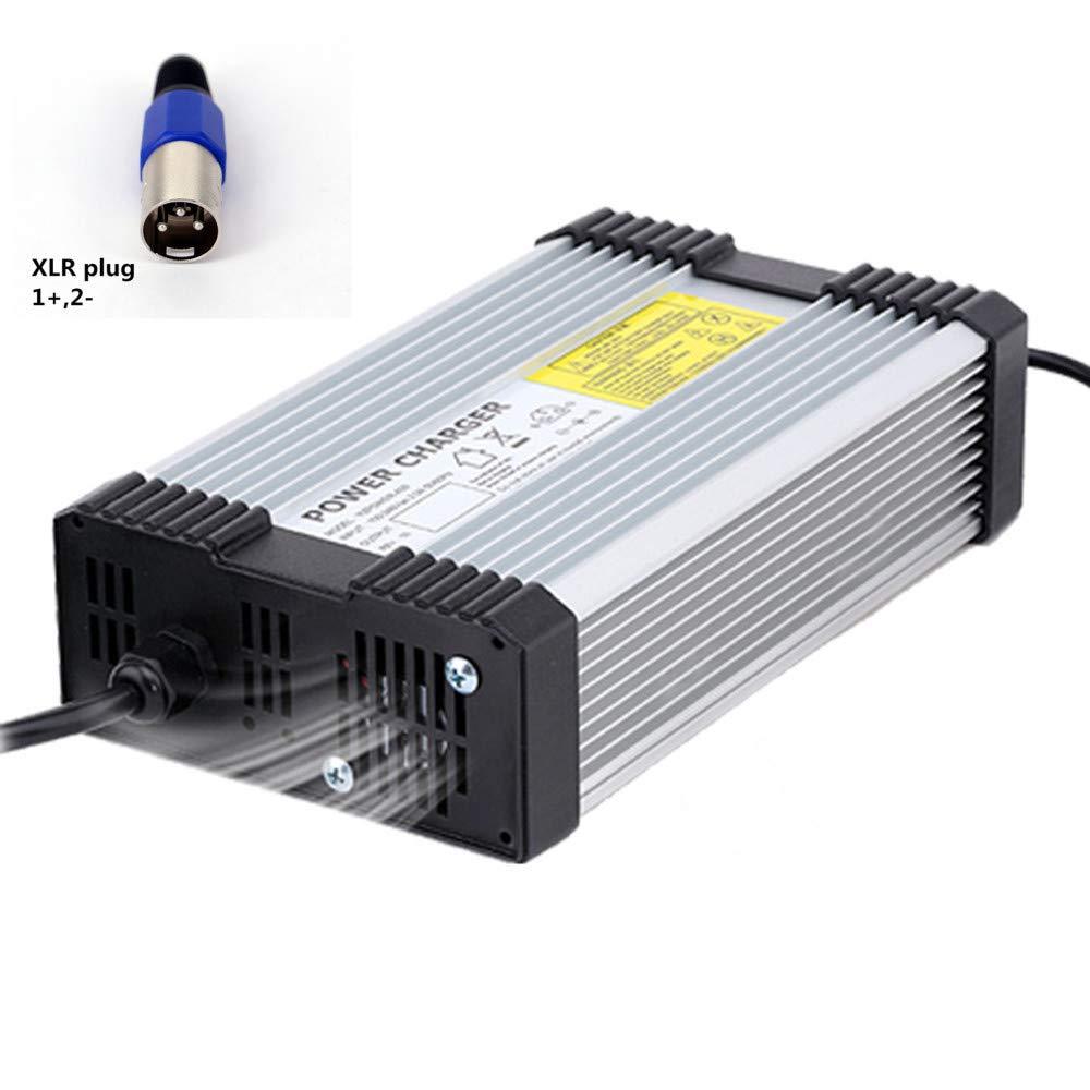 YZPOWER 42V 10A Lithium Li-ION Li-Poly Chargeur de Batterie pour 10 S�rie 36 V 10A �lectrique V�lo XLR Plug