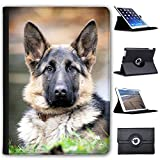 "Leather Case For Apple iPad 9.7"" 5th Generation (2017 Version) - Healthy German Shepherd Dog"