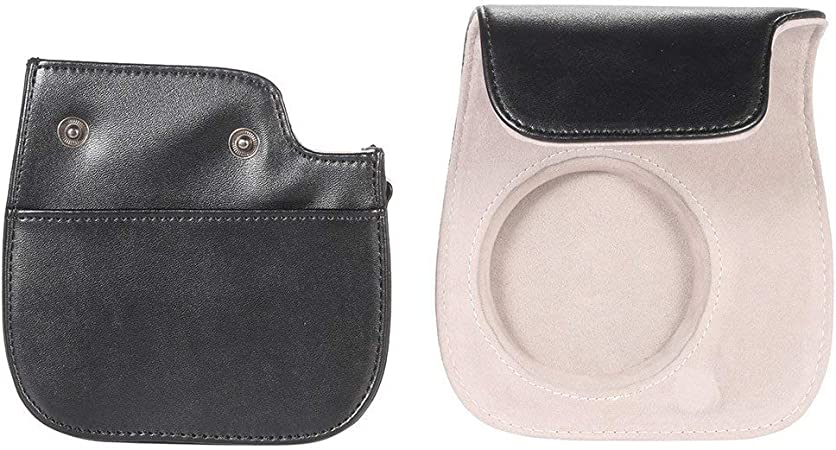 Jinshen color negro compatible con Instax Mini9 Mini8 Funda protectora de piel sint/ética para c/ámara instant/ánea