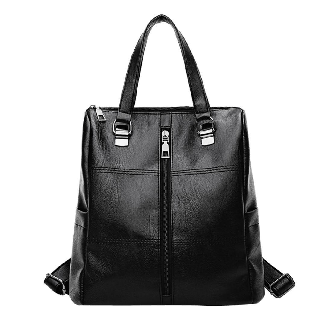 ❥Tefamore Vintage Girl Leather School Bag Backpack New Satchel Women Travel Shoulder Bag Tefamore-bag