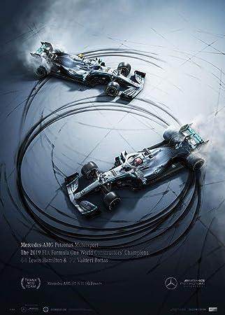 Automobilist Store Mercedes-AMG Petronas Motorsport - Donuts - Póster de diseño Exclusivo de la edición de coleccionista - Tamaño de póster estándar 50 x 70 cm: Amazon.es: Hogar