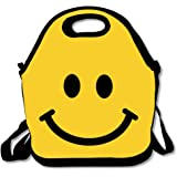 ScutLunb Lunch Bag Happy Smiley Face Lunch Tote Lunch Box For Women Men Kids With Adjustable Strap
