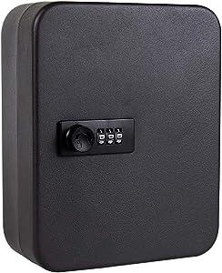 Key Safe Security Box Locker, Wall Mounted Key Holder Box 20 Key Lock Box Home Combination Password Metal Lock Key Safe Box Lockable