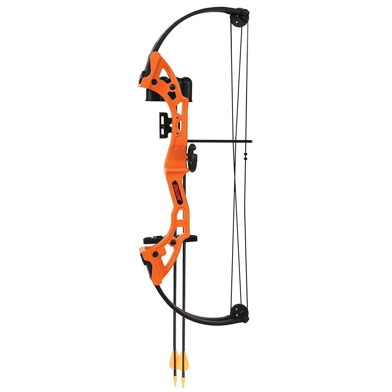 By-Ear Archery Bow Youth, Orange Bear Girls Boys Beginner Compound Bow Set