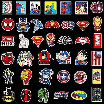 HXX 40 Personajes De Dibujos Animados Lindos Juego De Pegatinas ...