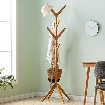Amazon.com: PLLP - Perchero de madera para colgar abrigos ...
