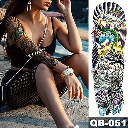 HXMAN Nuevas 3 Piezas Temporal Tatuaje Pegatina Serpiente Estrella ...