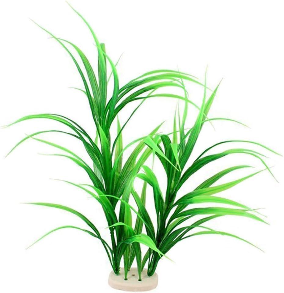 Amazon Com Bensen Grass Cluster Aquarium Decor Plastic Plant Extra Large 18 Inches Tall Green Pet Supplies