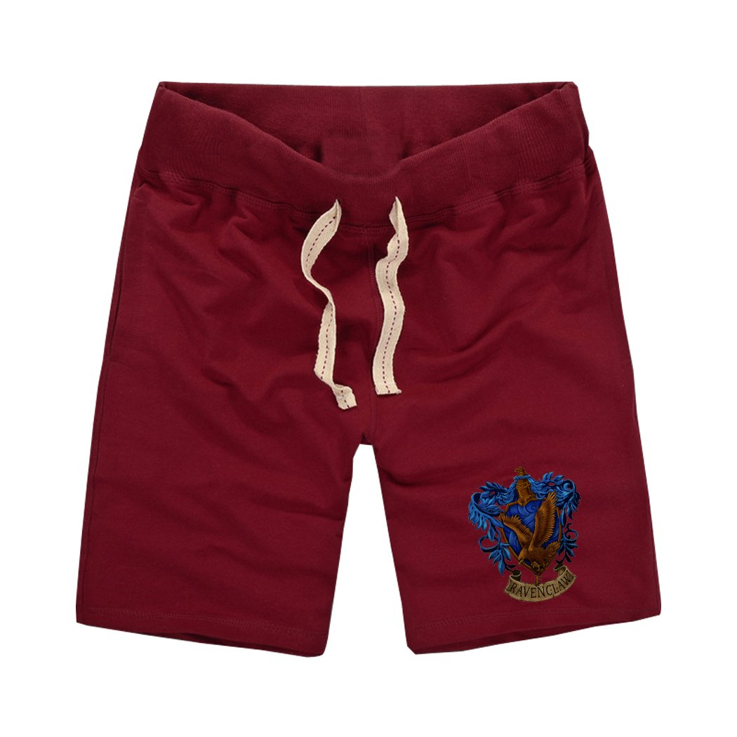 Sysuer Mens Harry Potter Ravenclaw Logo Cotton Gym Shorts Casual Short CShort818