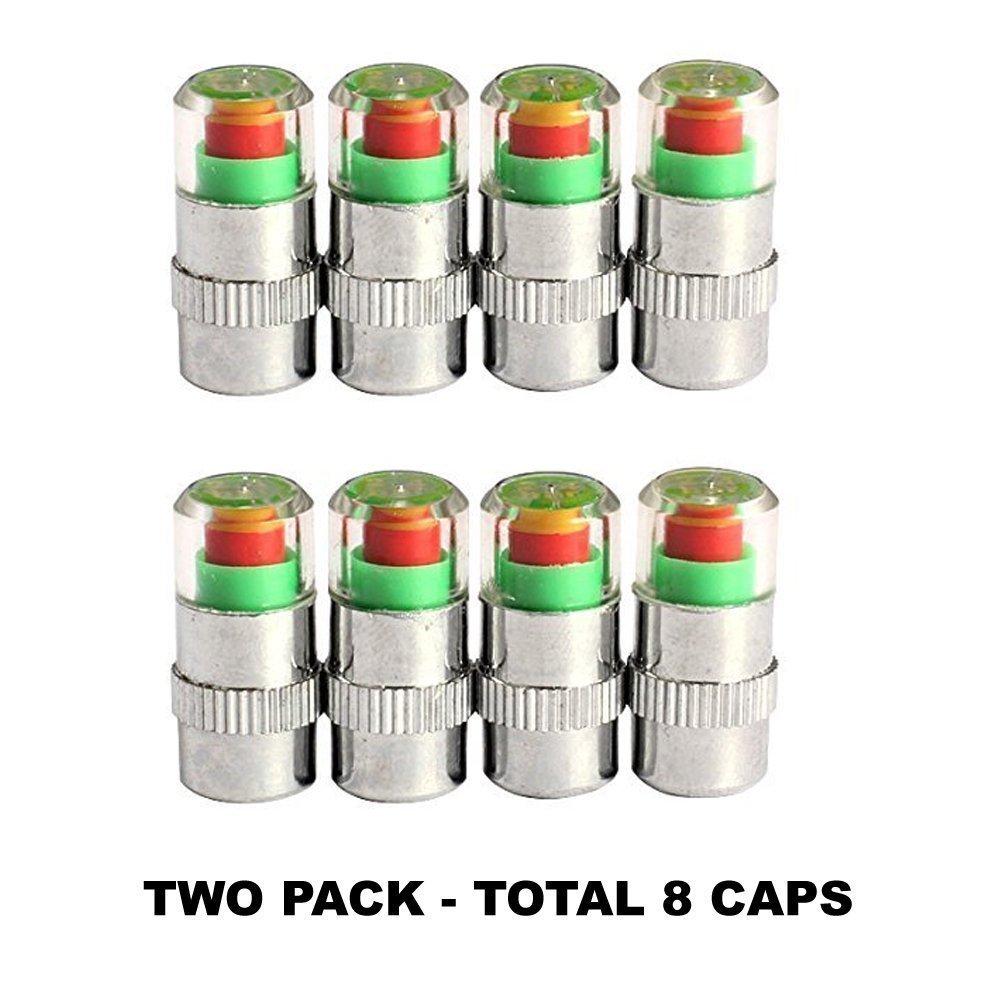 All Venture Tire Pressure Valve Cap 2 Pack(8 Caps)