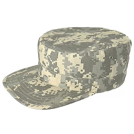 e460b007de2f1 Men s Canvas Ball Tactical Camo Camouflage Military Baseball Sun Hat Cap  Visor at Amazon Men s Clothing store