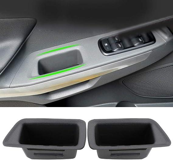2pcs voiture avant Porte int/érieure Accoudoirs Bo/îte de rangement for conteneur Ford Ecosport 2018 2019 Accessoires int/érieurs Bo/îtes de rangement
