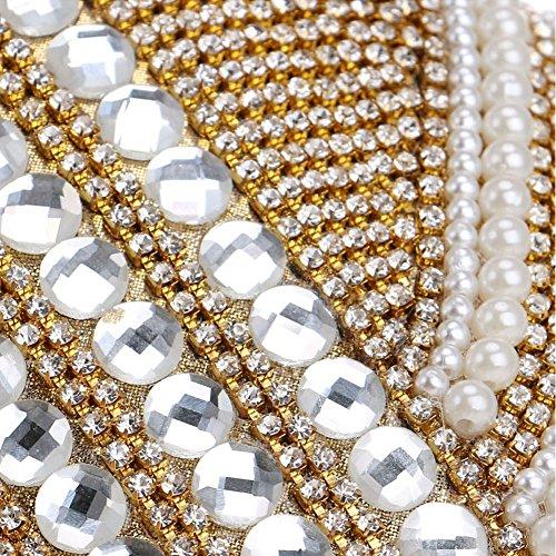 Las Bolso y 2 HKC de Europa de Color la Diamante Mujeres de de del Lujo del Las Noche Bolso Manera 1 Amrica de Seoras de nTPgwxqT