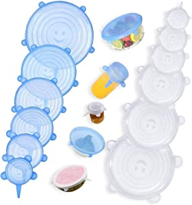 Bezal - Silicone Stretch Lids, 24Pack Reusable Durable Stretchable Versatile Silicone Food Covers, fits Various Sizes or Shapes of Container to Keep Food Fresh, BPA-Free Food Container Covers
