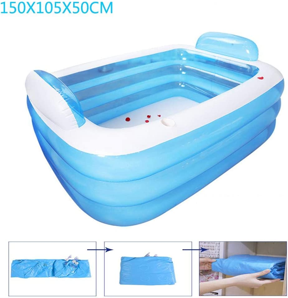 Family Rectangular Blow Up Family Pool for Adult Kids ...