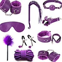 10pc Purple Yoga Straps Set