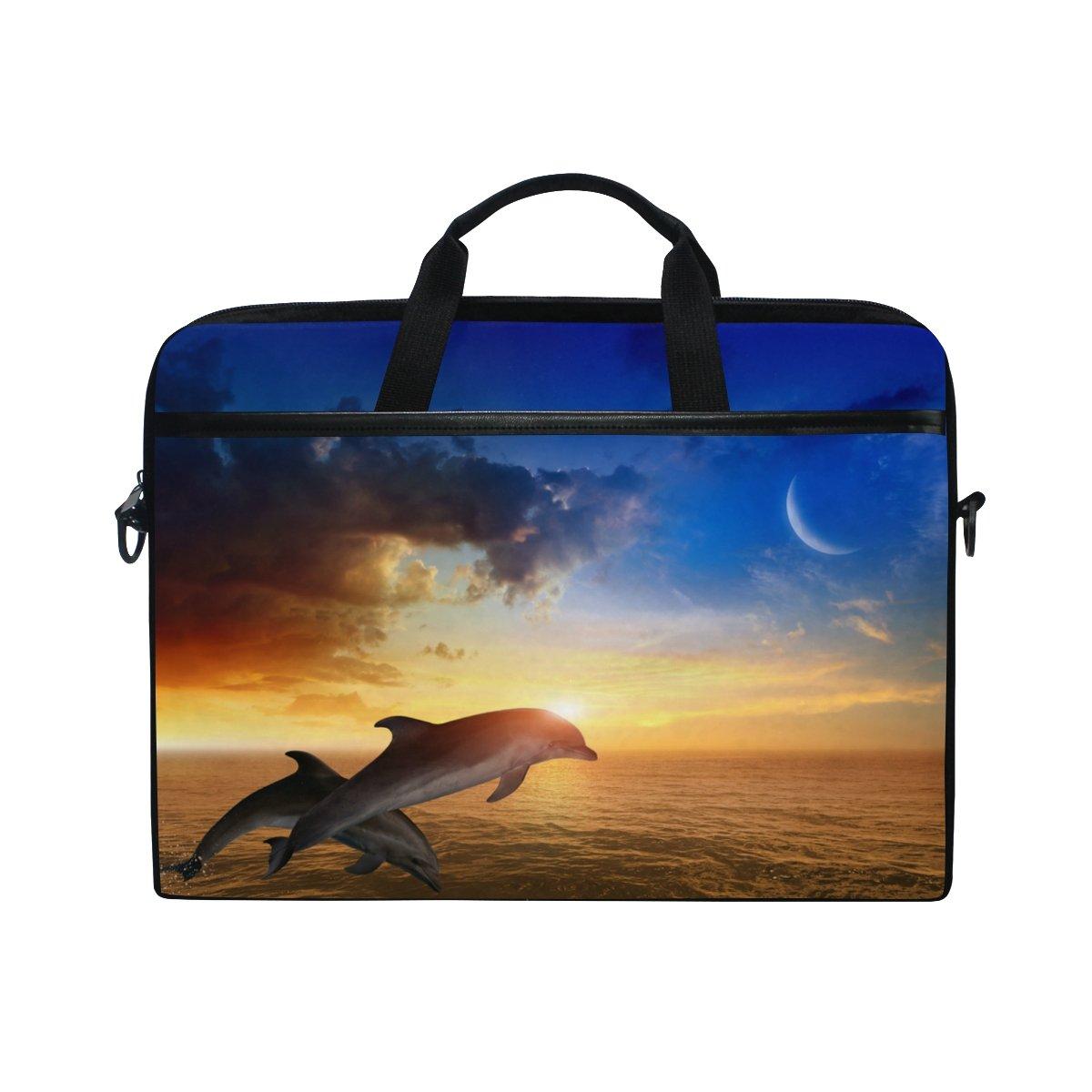 0651a0fcbc ALAZA Cute Dolphins Laptop Bag Shoulder Bag Briefcase Messenger Tablet Bag  15 15.6 Inch for Women