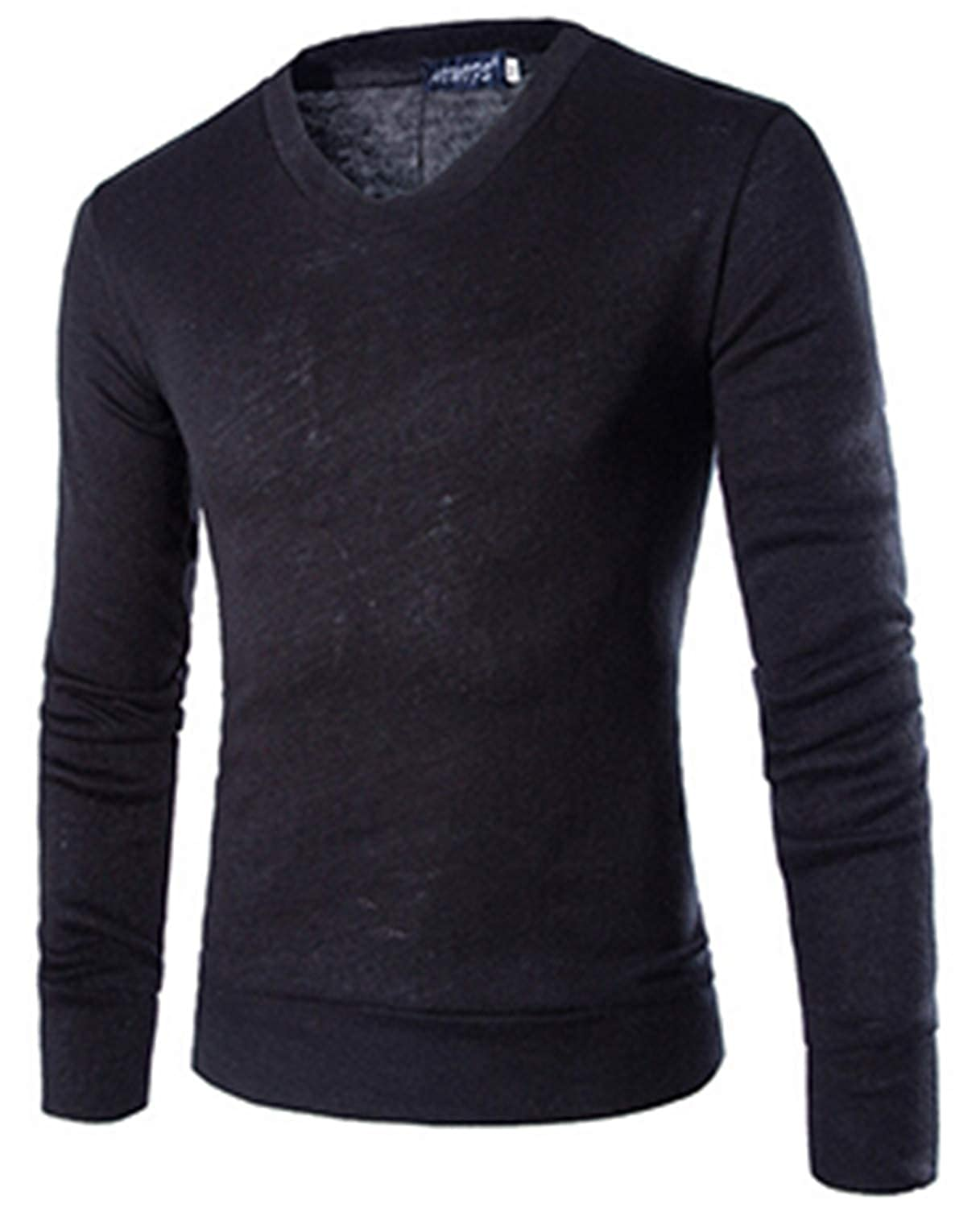Thadensama Tops Pullovers Men Clothing Preppy Style V Neck Thin Wool Solid Sweater Men Knitted Pullover Sweaters New