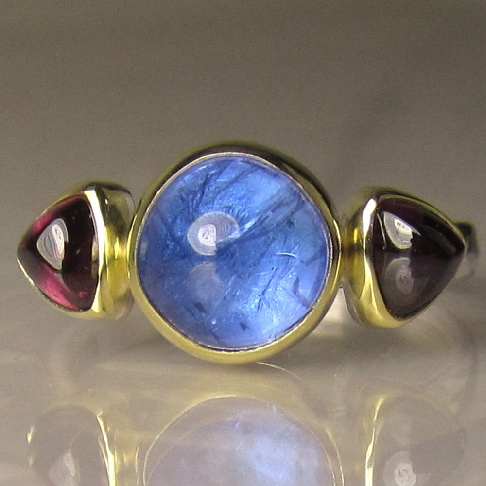 Stunning Tanzanite cocktail Ring in 14k gold Over Sterling Silver /'L/'