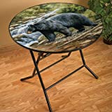 Shadow of the Forest Bear Folding Table Millette by Rosemary Millette