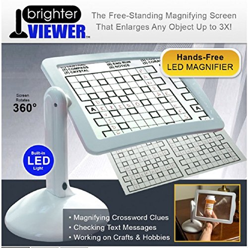 LED Lighted Hands Free Magnifying Screen with Stand by Coerni (Magnifying Screen)